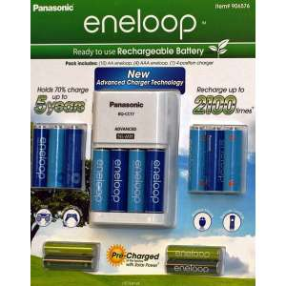 Amazon: Cargador de baterias Panasonic + 10 pilas AA y 4 AAA