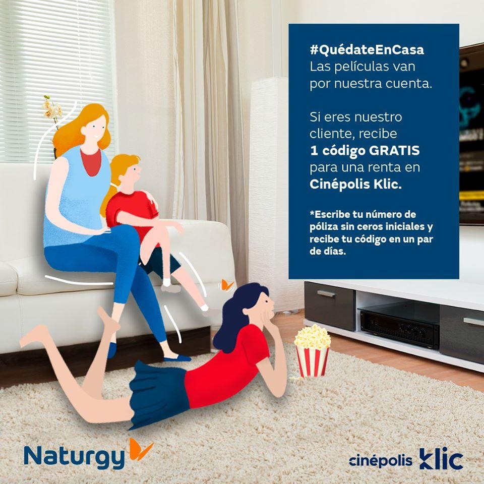 Renta gratis Cinepolis Click para usuarios de gas Naturgy