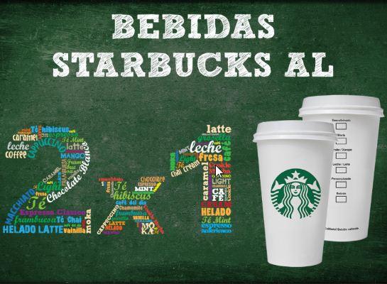 Cupón de 2x1 para Starbucks haciendo envío internacional por DHL