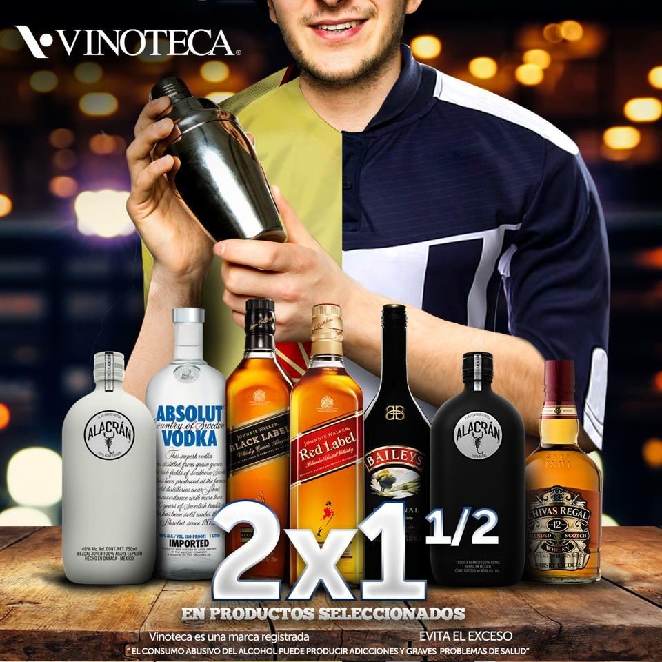 Vinoteca: 2 x 1-1/2 en productos participantes