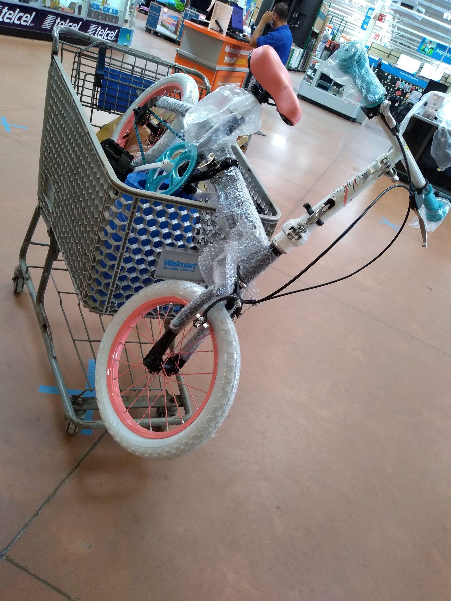 Walmart bici plegable $529.01