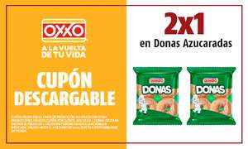 OXXO: 2 X 1 En Donas azucaradas