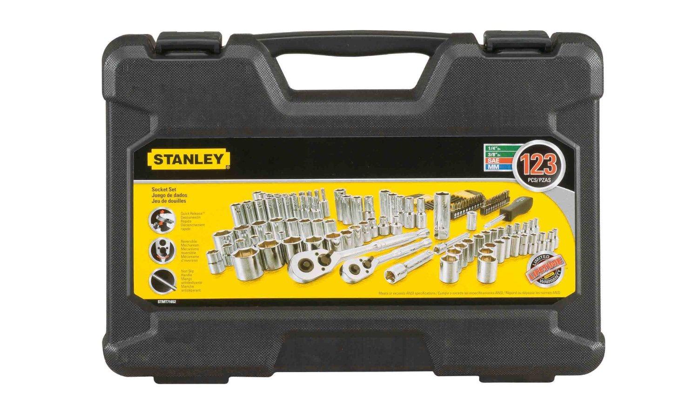 Amazon: Juego de Herramientas Stanley de 123 piezas -sin tarifa de importación-