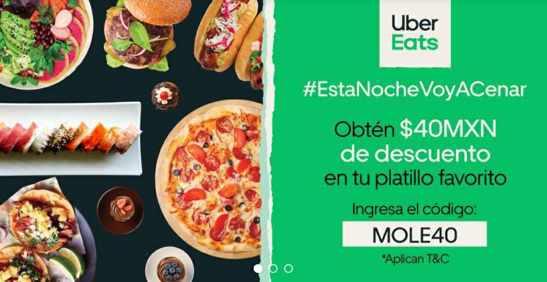 Uber Eats: -$40 MXN en la compra de $200 MXN (Usuarios Seleccionados)