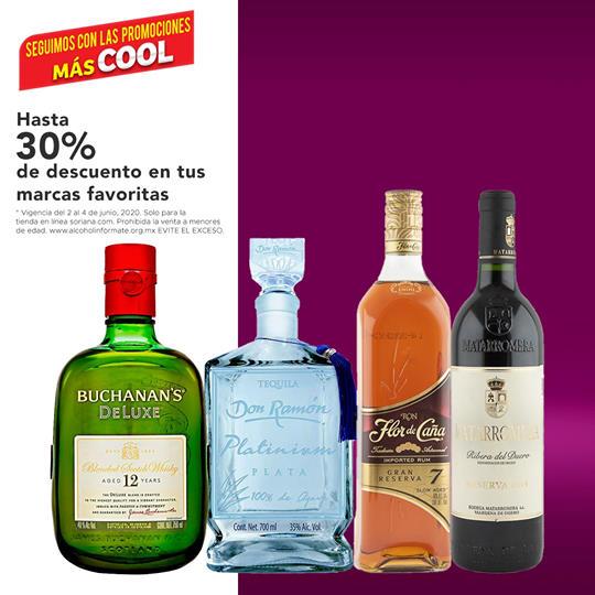 30% de descuento en vinos y licores en Soriana