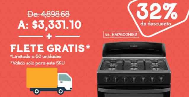 Tienda Mabe: Flete GRATIS en estufa a $3,331 solo HOY