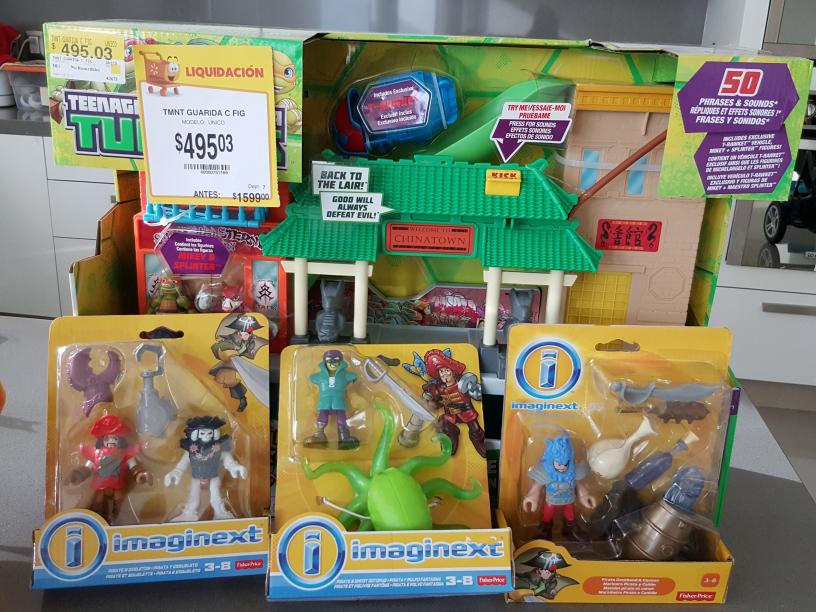 Walmart: liquidacion de juguete la guarida de TMNT