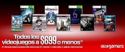 Gamers: todos los videojuegos a $699 o menos en tiendas seleccionadas