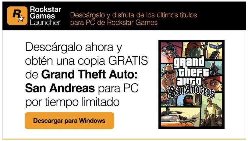 Rockstar Games: GTA San Andreas gratis