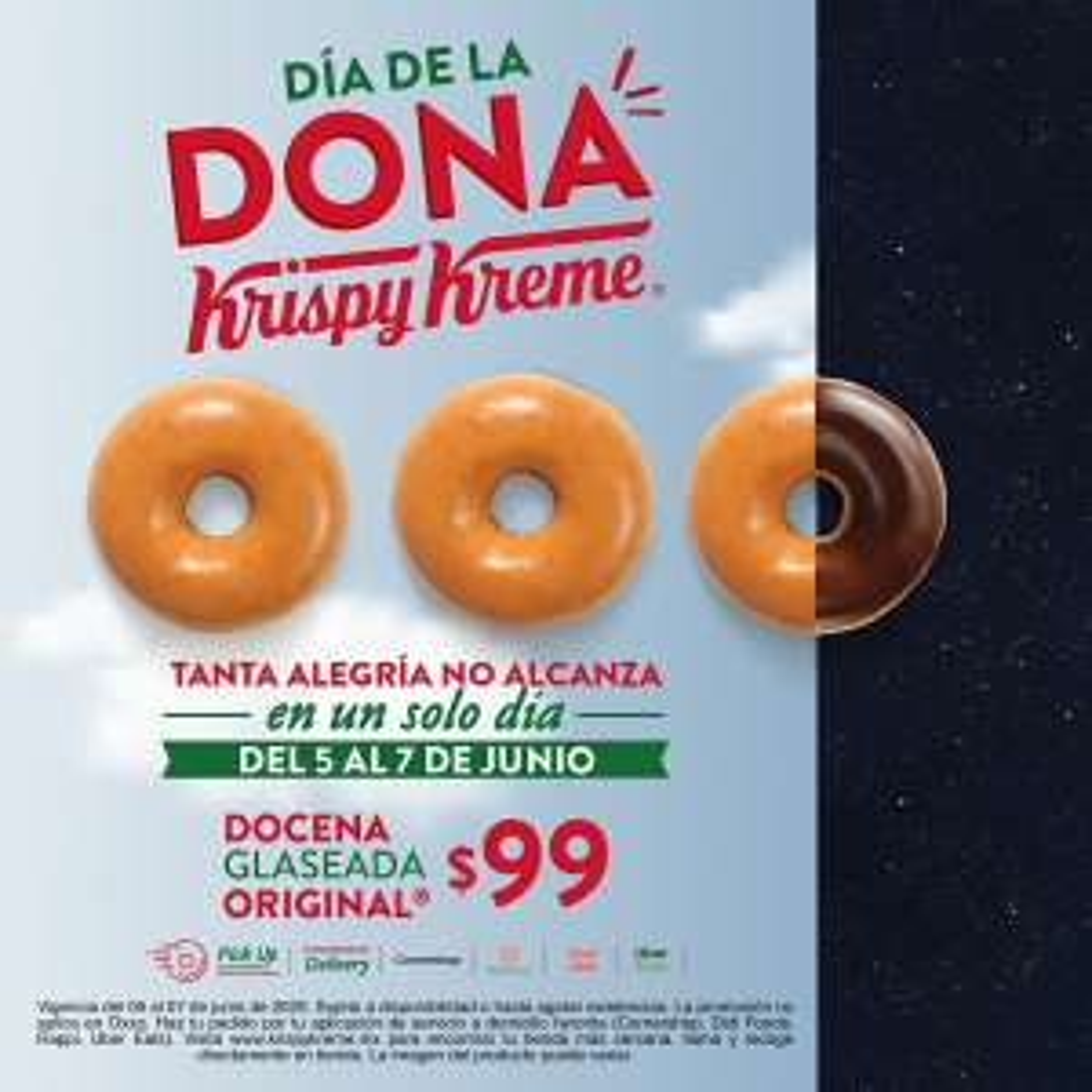 Krispy Kreme: Día de la Dona - Docena Glaseada $99