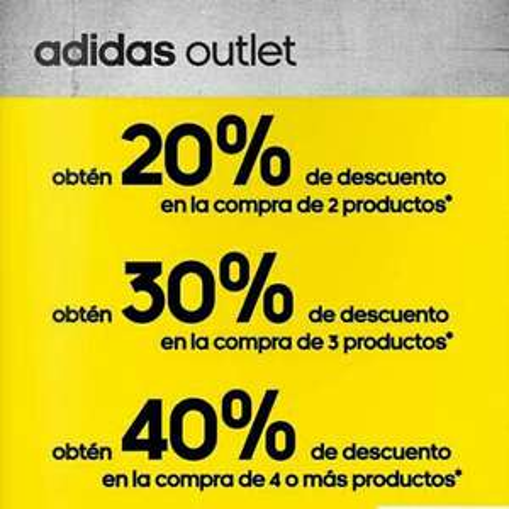 Outlet Adidas Insurgentes Sur CDMX: descuento escalonado hasta -40%
