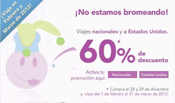 Volaris: 50% de descuento para 2013 reservando a partir del 31 de diciembre