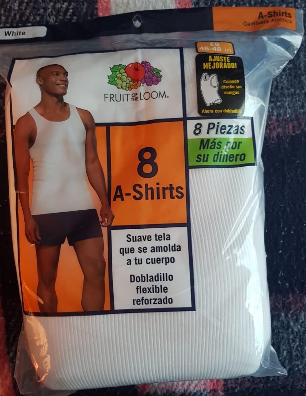 Bodega Aurrera Camiseta Atlética Blanca 8 pzs.
