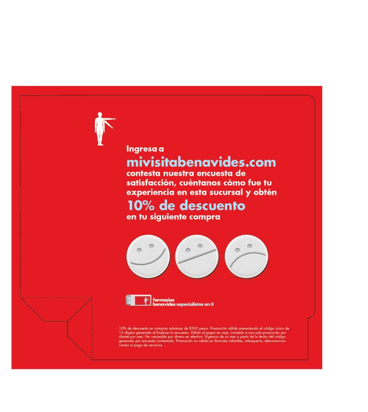 Farmacias Benavides: 10% de descuento contestando encuesta