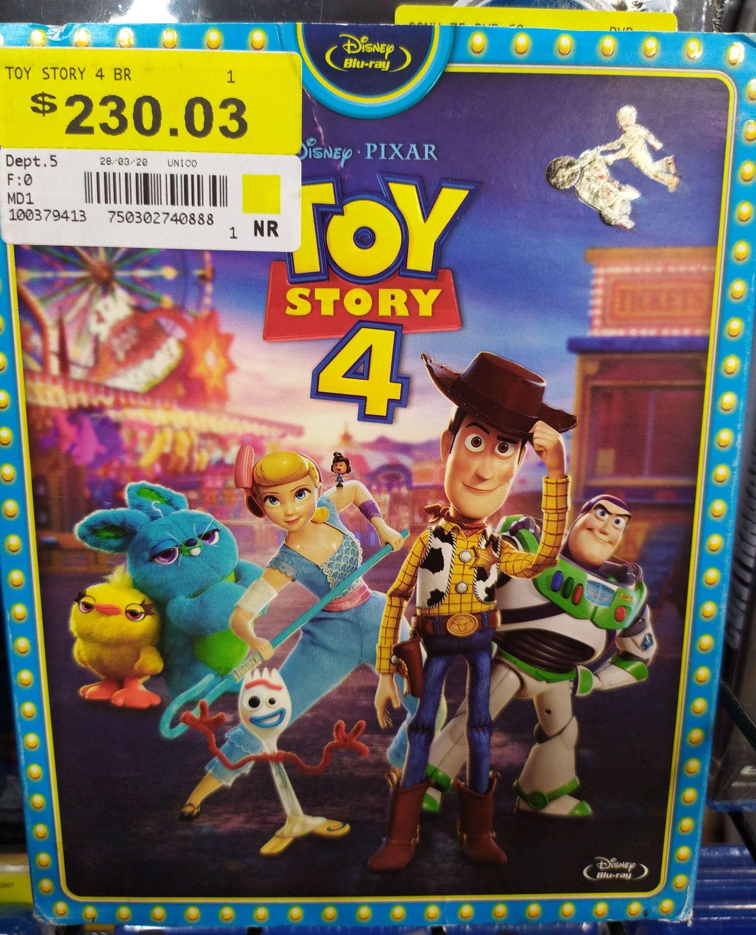 Walmart: Toy Story 4 Blu-ray