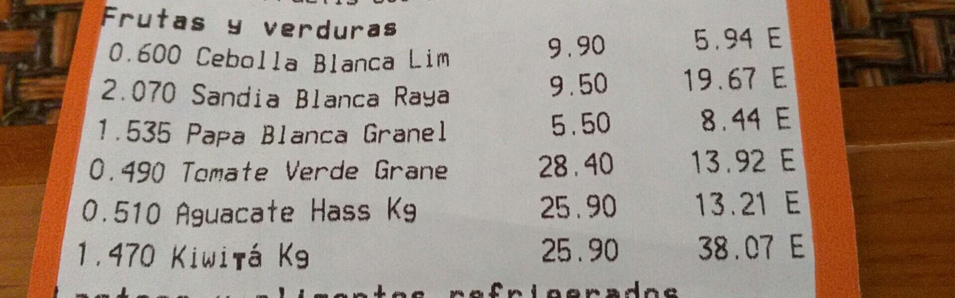 Chedraui Lomas Estrella: Papá blanca a $5.50 el Kg
