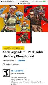 Microsoft: Pack doble Lifeline y Bloodhound