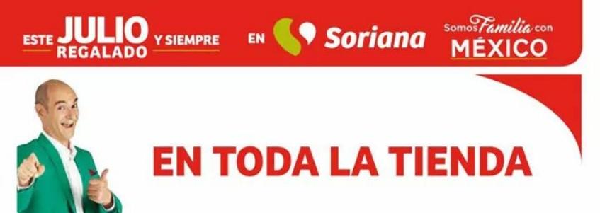 Soriana: Promociones Bancarias durante Julio Regalado.