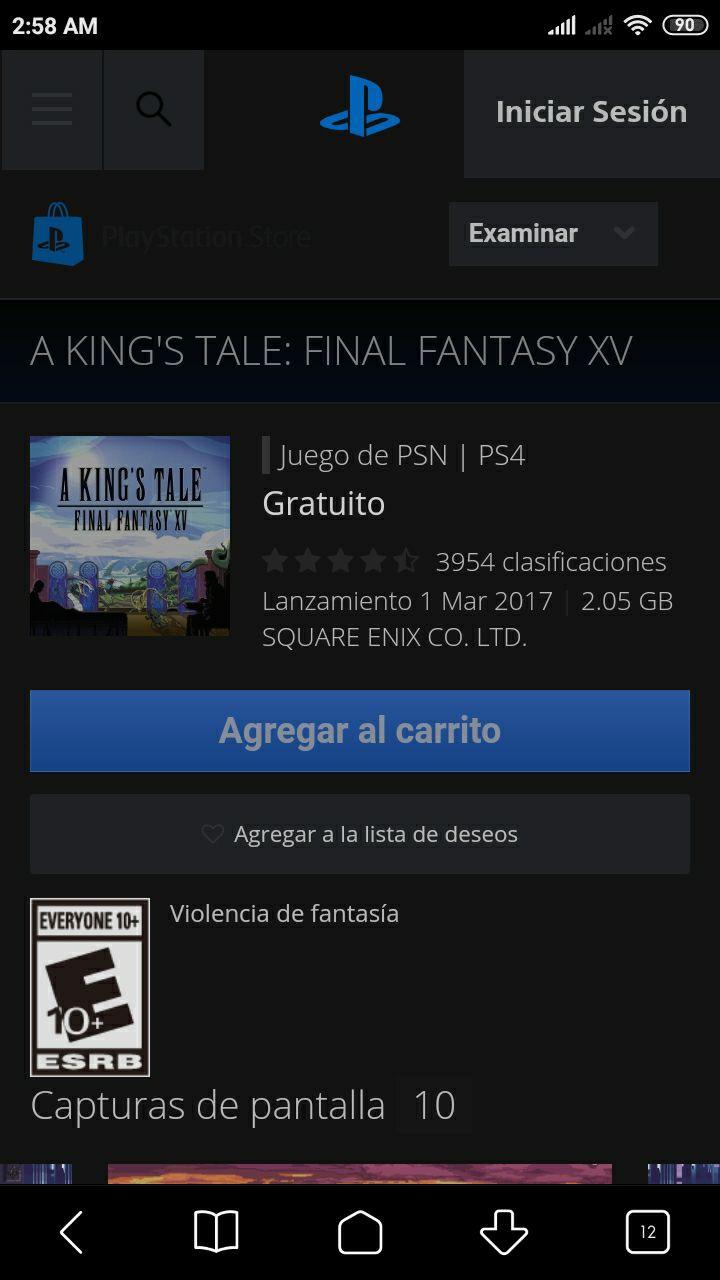 PSN A king's tale: Final Fantasy XV PSN