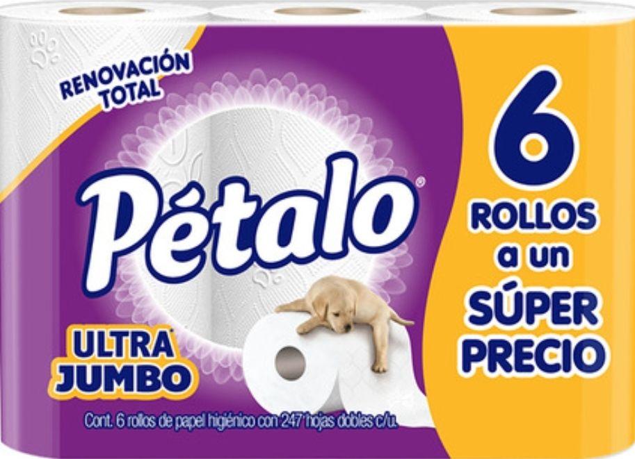 Chedraui: Papel higiénico Pétalo Ultra Jumbo 6 Rollos