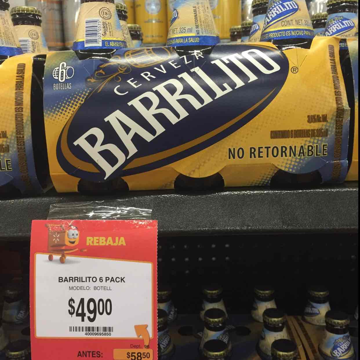 Walmart: six de barrilito a $49