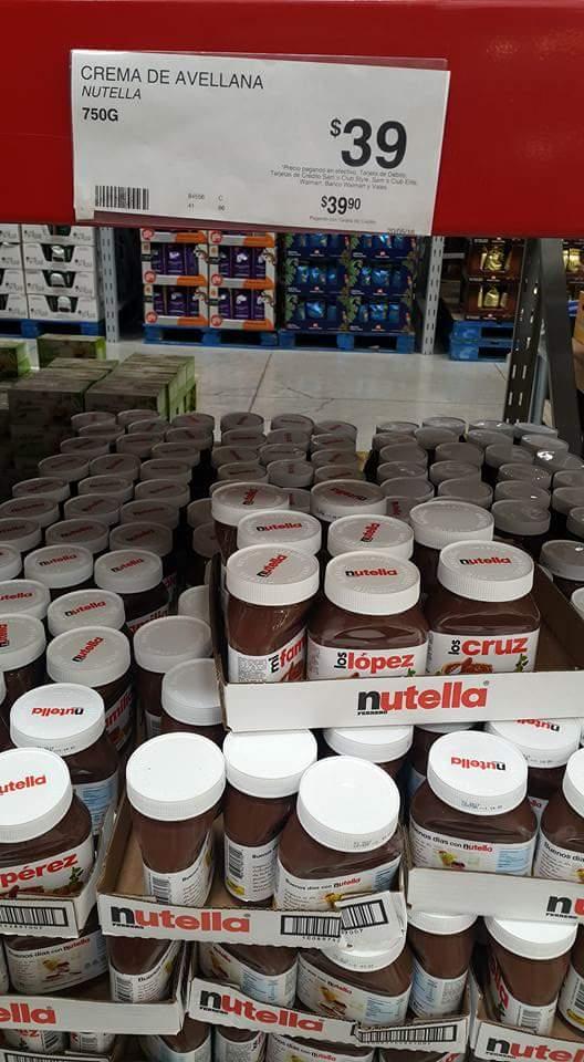 Sam's Club Mérida Itzaes: Nutella 750g a $39