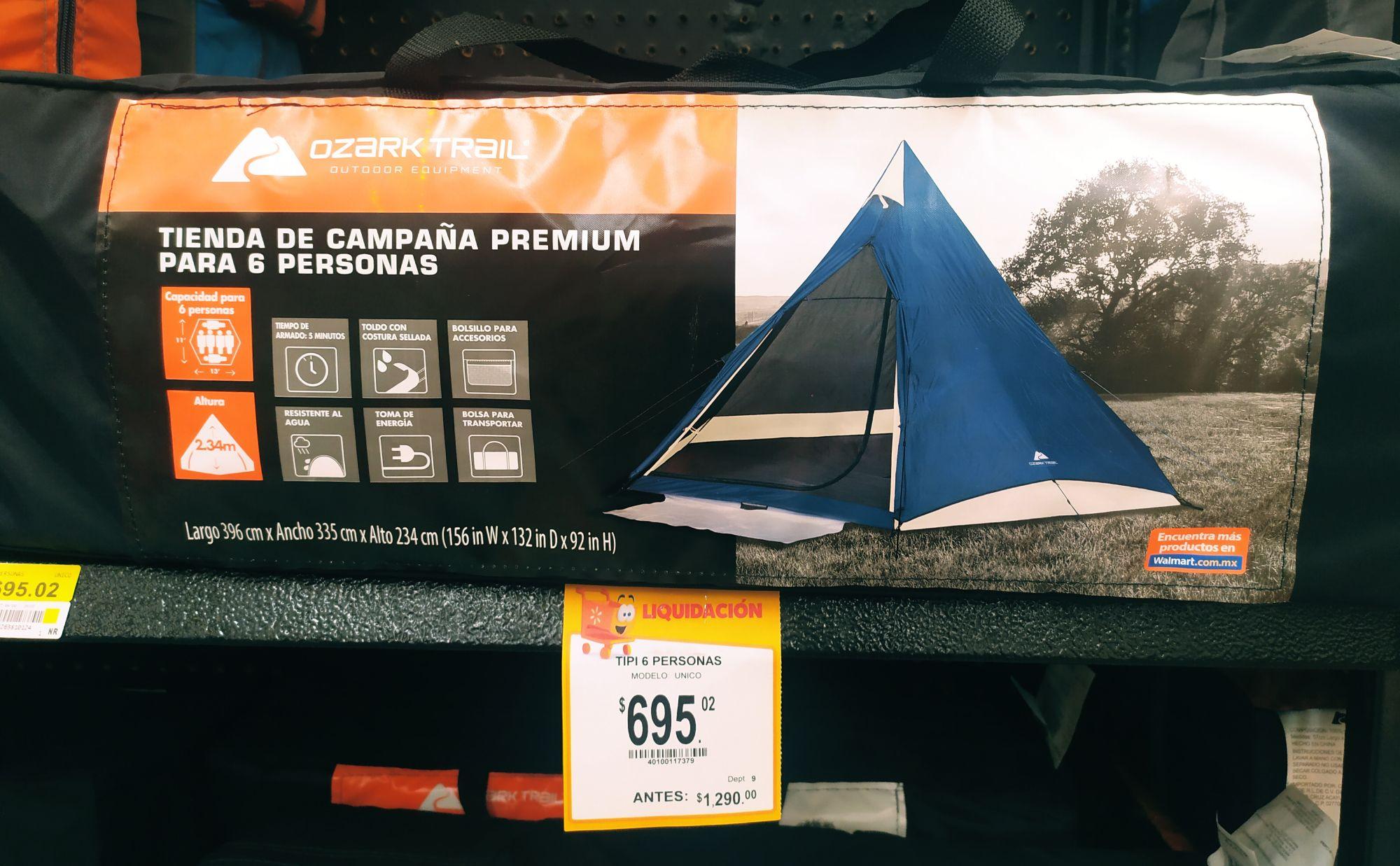 Walmart: Tienda de campaña premium 6 personas