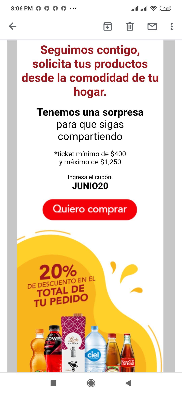 20% Productos de la Familia Coca Cola