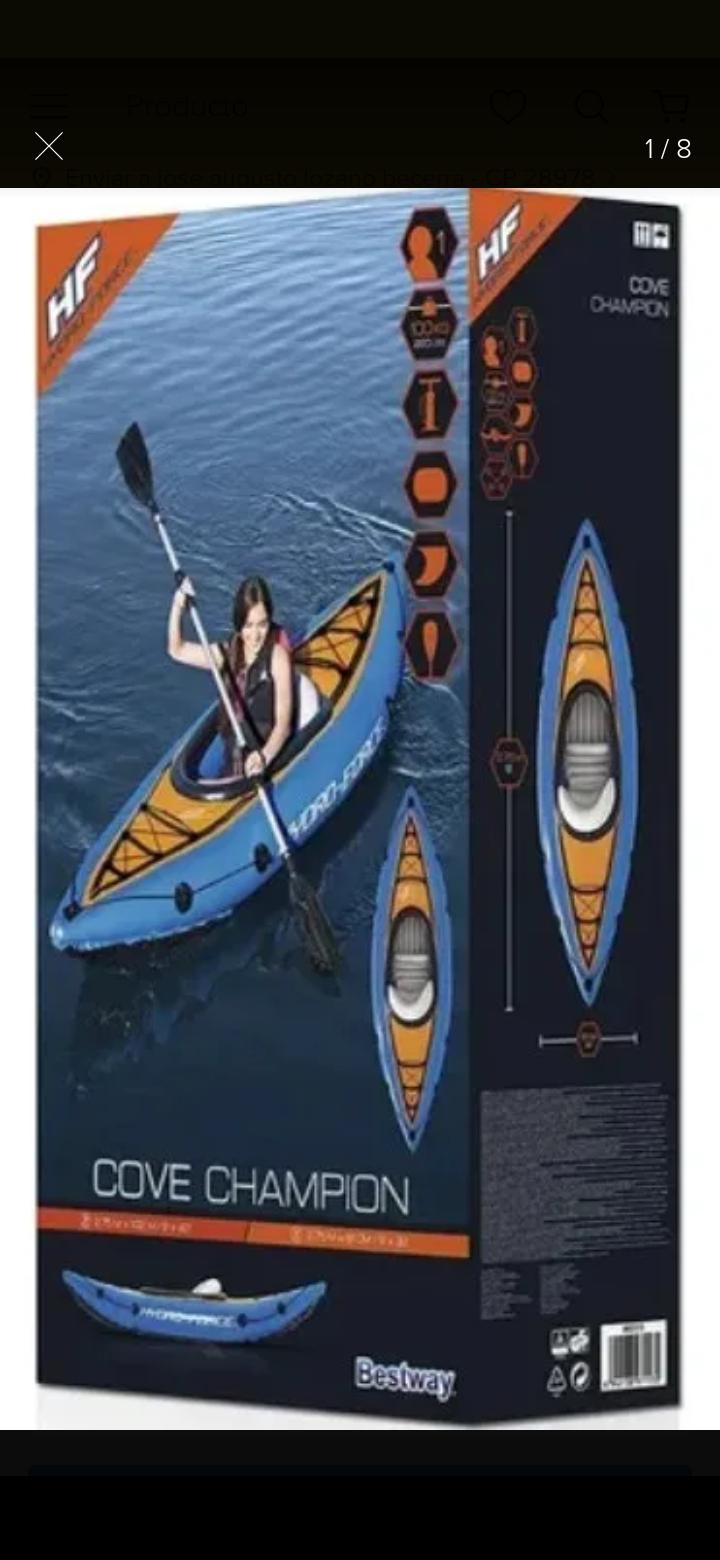 Kayak Cove Champion Bestway Hydro Forcé Walmart Colima