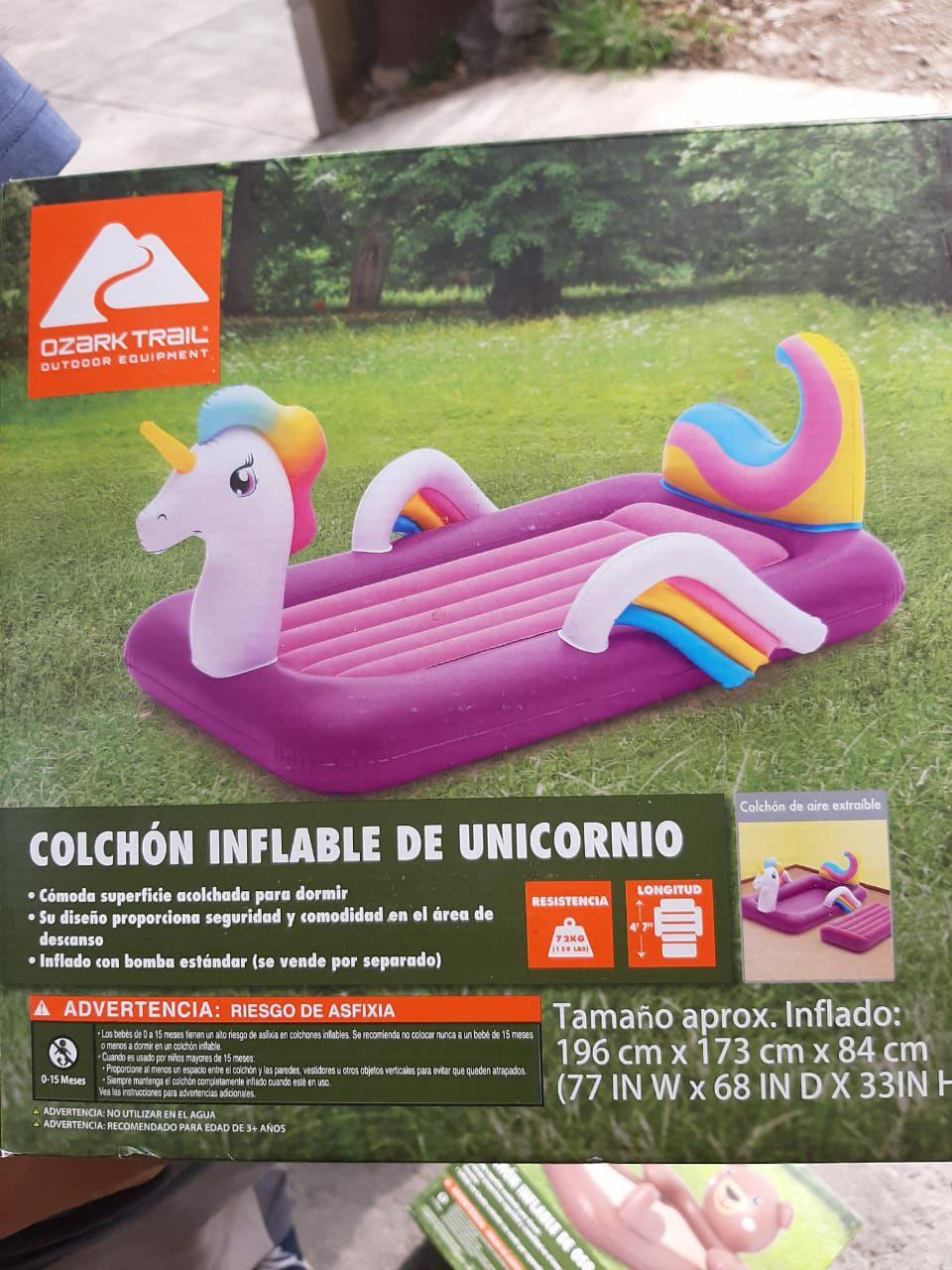 Walmart: colchon inflable unicornio y oso en última liquidación
