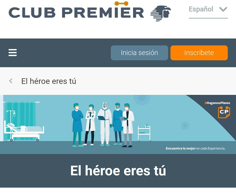 3000 puntos premier Aeromexico a personal de salud