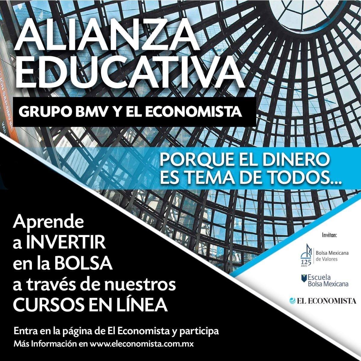 El economista y BMV: Curso gratis, Aprende a invertir en la bolsa