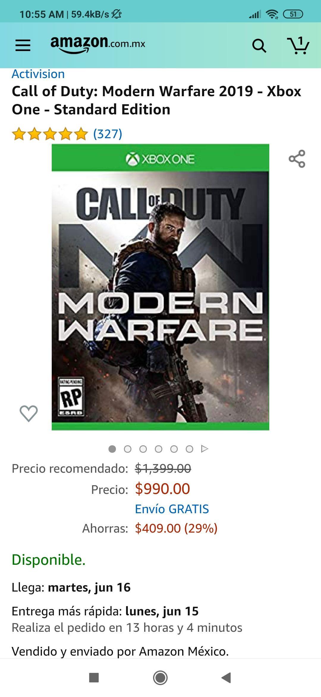 Amazon COD modern warfare