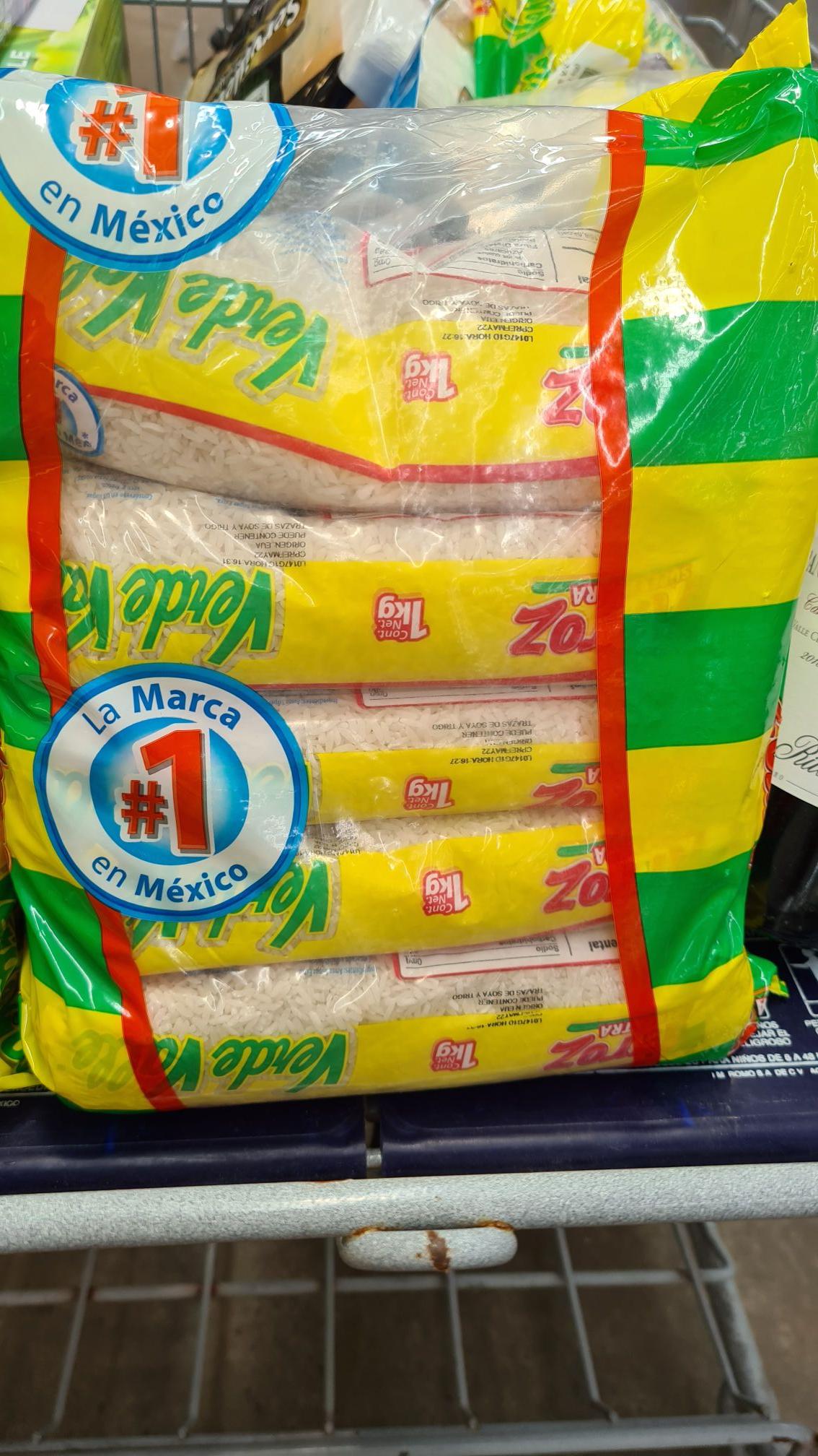 Sam's Club 5kg arroz verde valle $33 en Sams veracruz, boca del rio