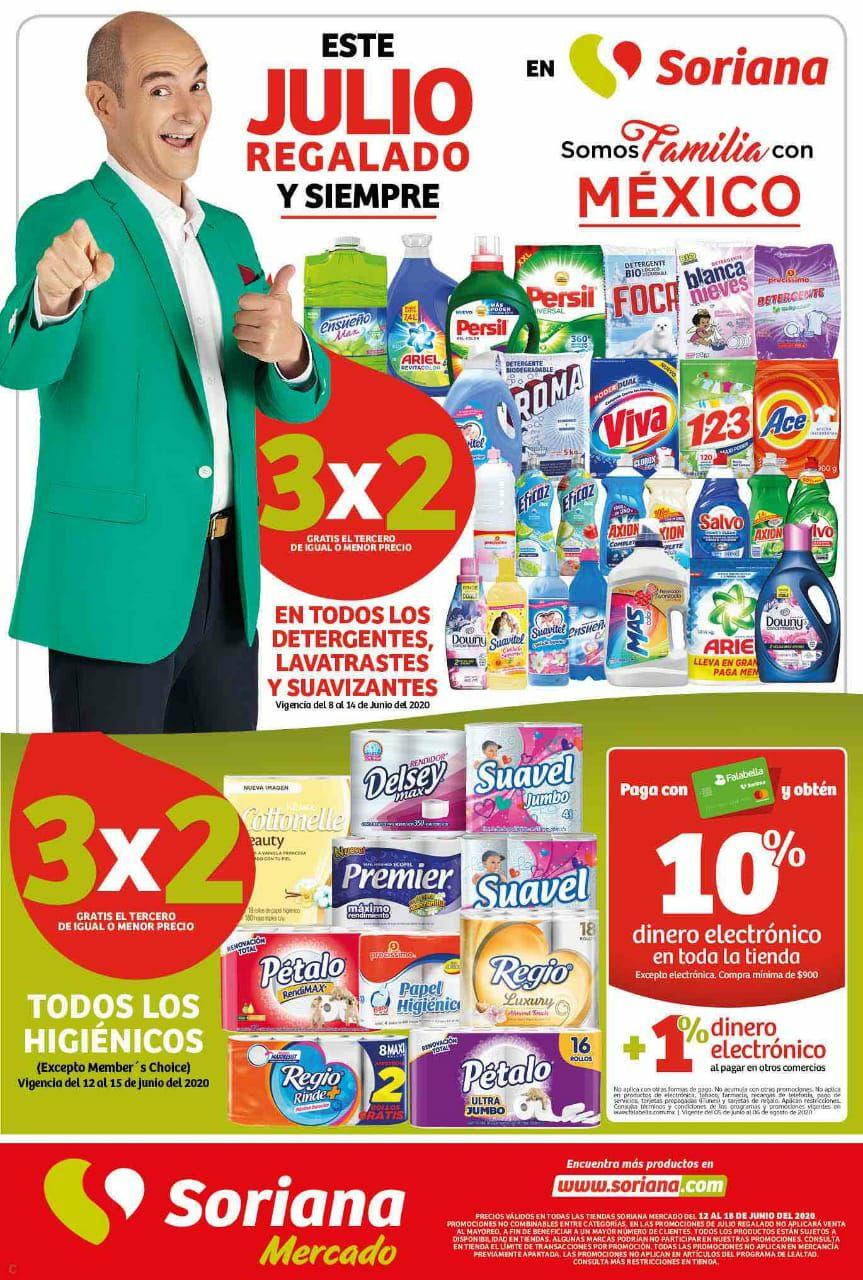 Julio Regalado 2020: Folleto de Ofertas Soriana Mercado y Express del 12 al 18 de Junio