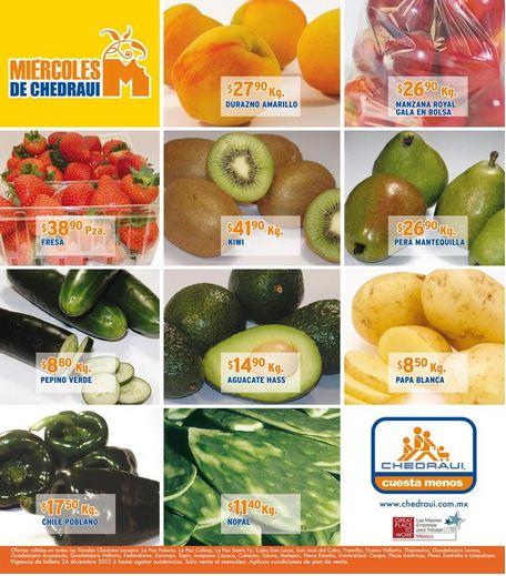 Miércoles de frutas y verduras Chedraui diciembre 26: zanahoria $6.50, papaya $7.90 y +