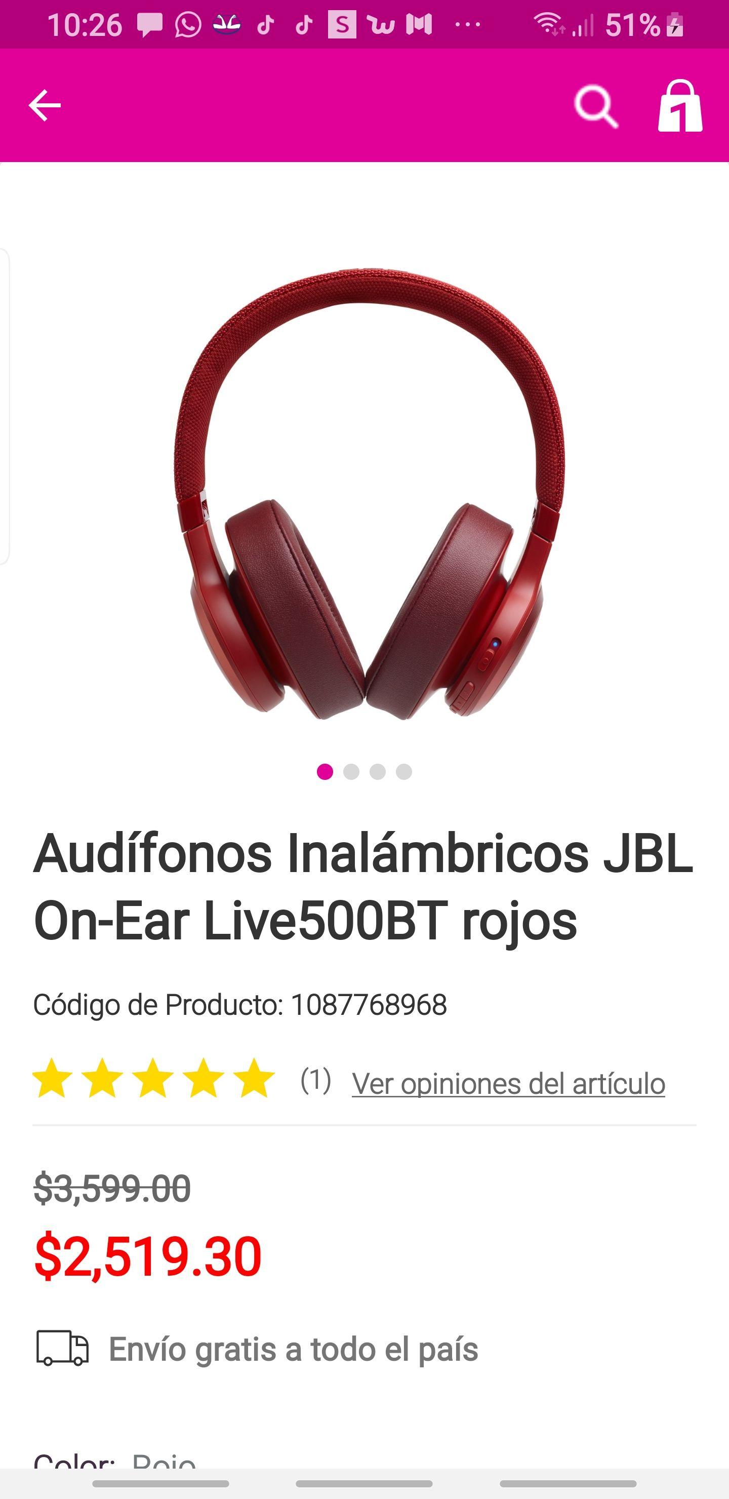 Liverpool: Audifonos jbl live500bt