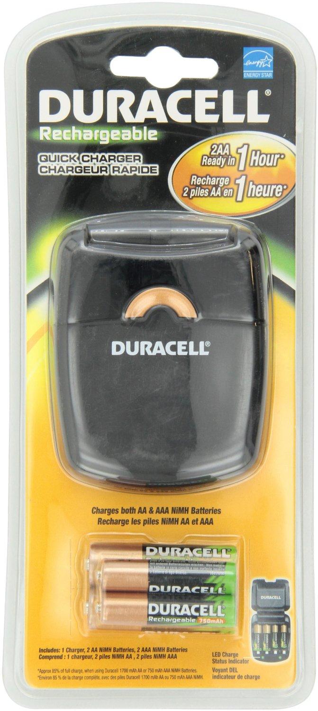 Amazon: Cargador de pilas Duracell carga rápida de 4 pilas en $145