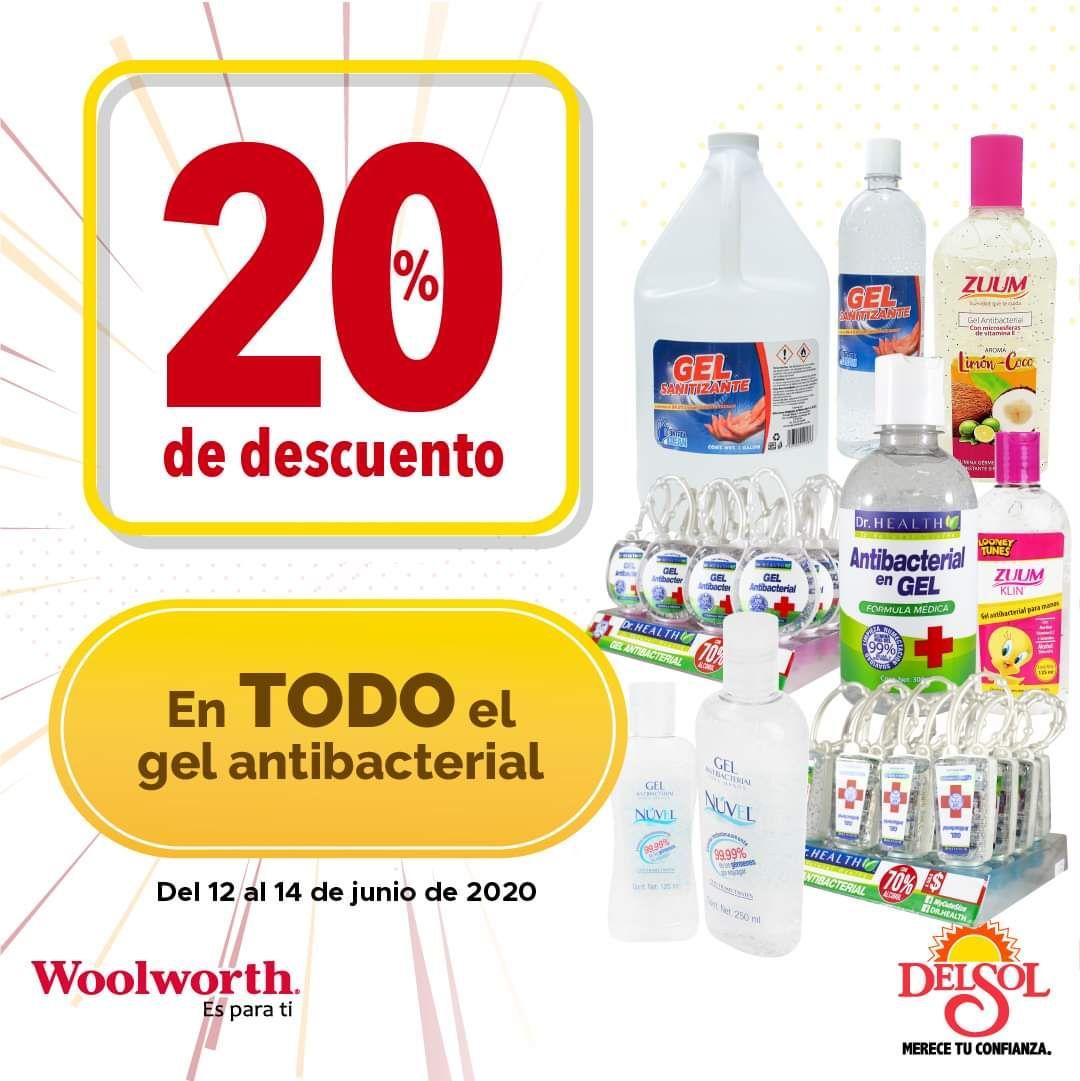 Del Sol y Woolworth: 20% de descuento en todo el gel antibacterial
