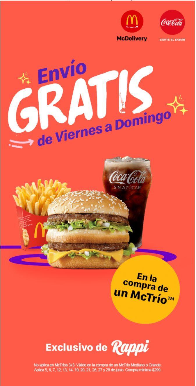 Envío gratis en McDonald's con Rappi