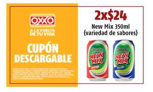OXXO: 2 latas New Mix por $24