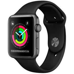 ihop Mixup: Apple Watch Serie 3 GPS Con Caja de Aluminio En Gris Espacial de 42 MM y Correa Deportiva Negra