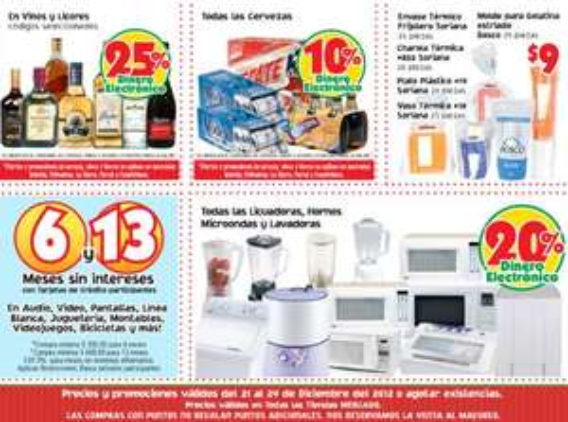 Mercado Soriana: dinero electrónico en vinos y licores, microondas, tablets, lavadoras y +