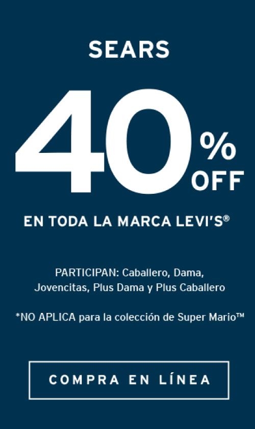 Levi's 40% de descuento en productos de su marca Levi's,