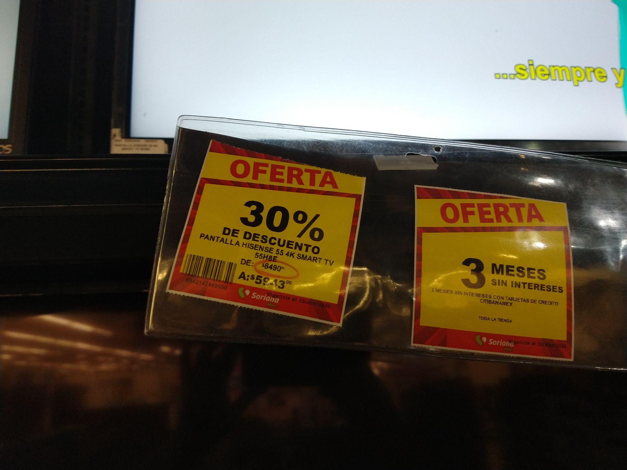 Soriana: Pantalla Hisense H8e 4k