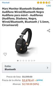 Amazon: Audífonos Marshall