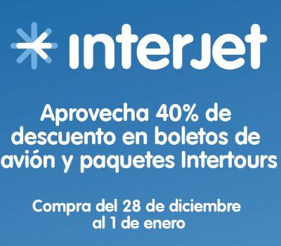 Venta especial de fin de año Interjet: 40% de descuento