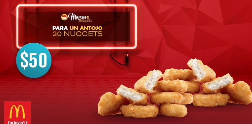 McDonalds: 20 McNuggets por $50 con cupón