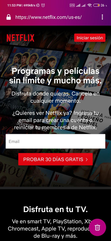 Netflix: Prueba gratis Netflix 1 mes 4 pantallas