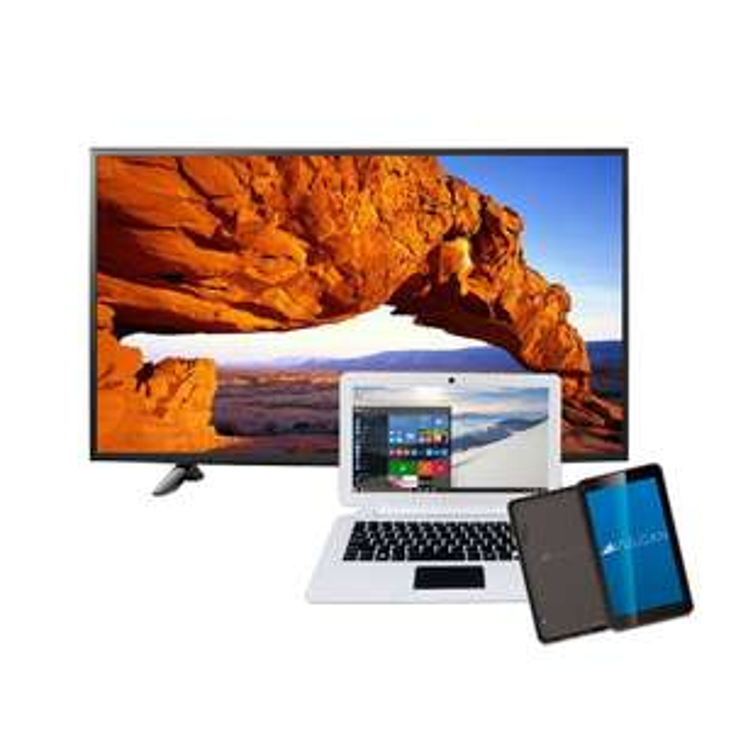 "Famsa en línea: Pantalla LG 43"" FHD Smart TV + Laptop + Tablet 7"" + 18 MSI (Banamex)"